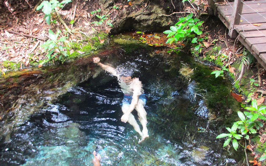 Ceita Corê Nadando Na Nascente do Rio Chapeninha