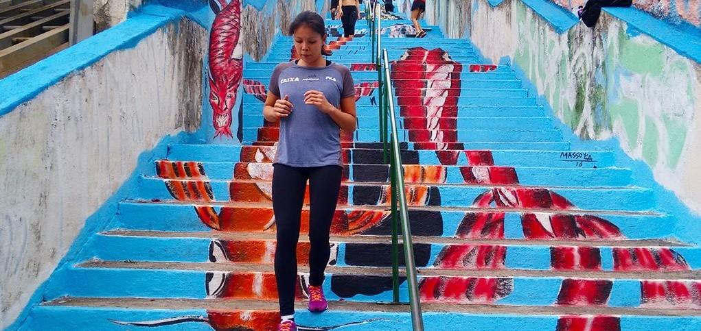 Treino Av. Sumaré São Paulo- scadaria