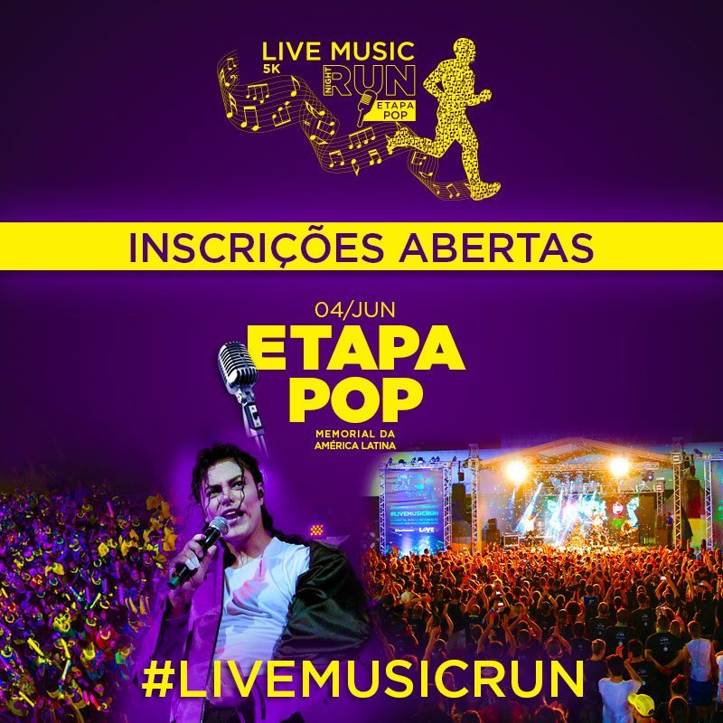Inscrições Abertas Live Music Night Run Etapa Pop