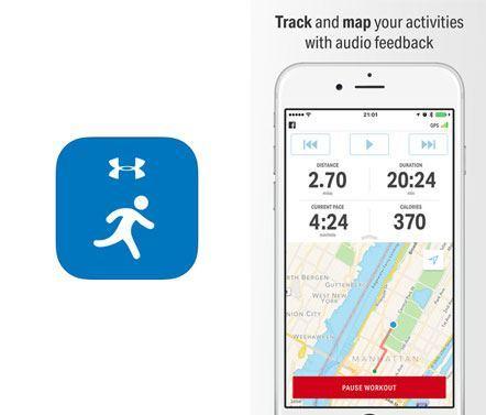 Aplicativo Run with Map My Run