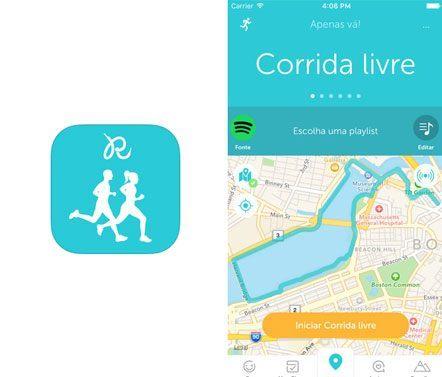 Aplicativo Runkeeper GPS Correr Caminhar