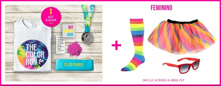 The Color Run Tropicolor Kit Feminino