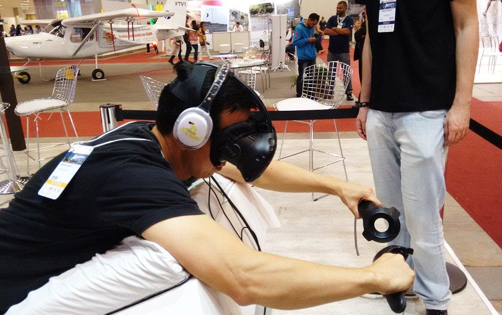 adventure sports fair 2016 simulador voo asa delta