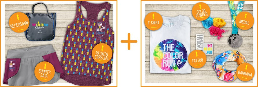 the color run segunda etapa kit feminino