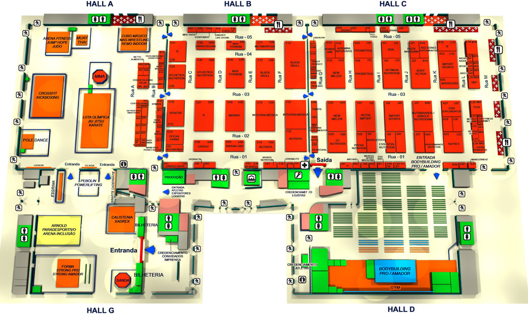 Arnold Classic South America mapa