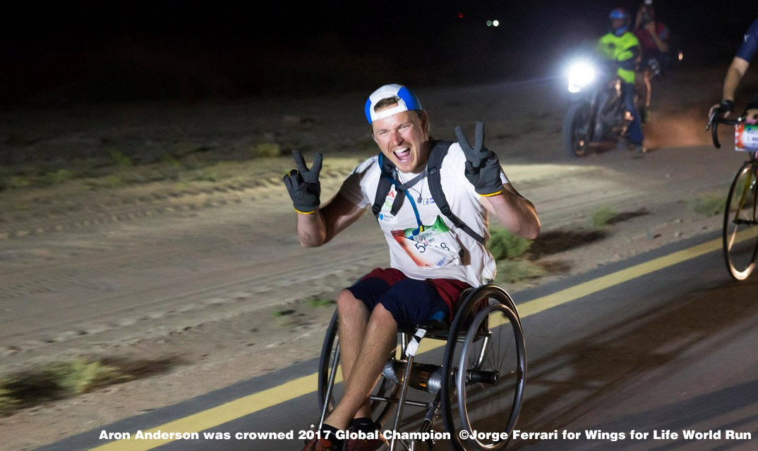 Wings for life world run 2017 Aron Anderson