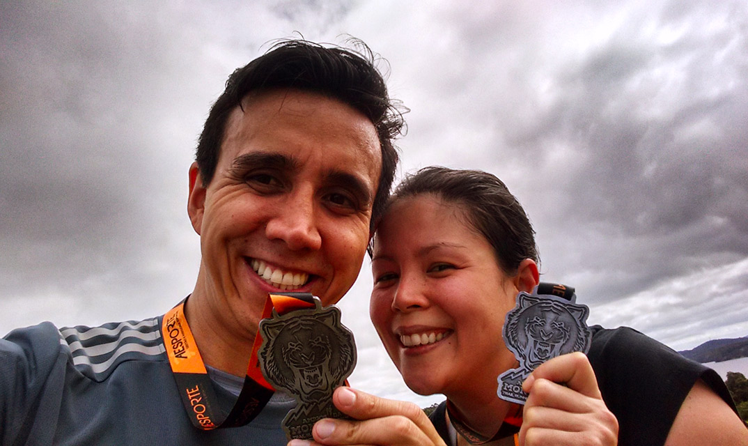 Corrida Amigos da Montanha Trail Running Etapa Tigre 2017 Medalha