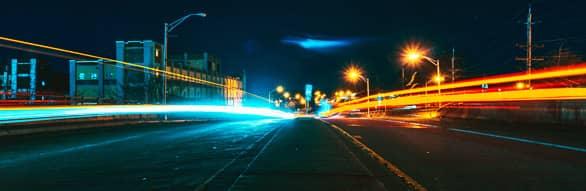 corrida noturna percurso