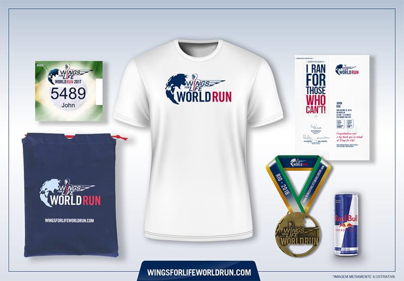 wings for life world run 2018 kit padrão