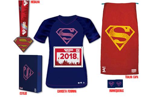 corrida superman kit feminino