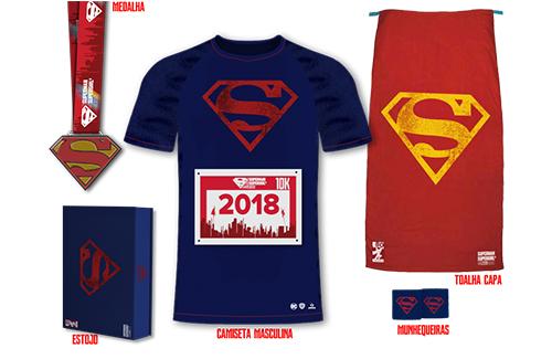 corrida superman kit masculino
