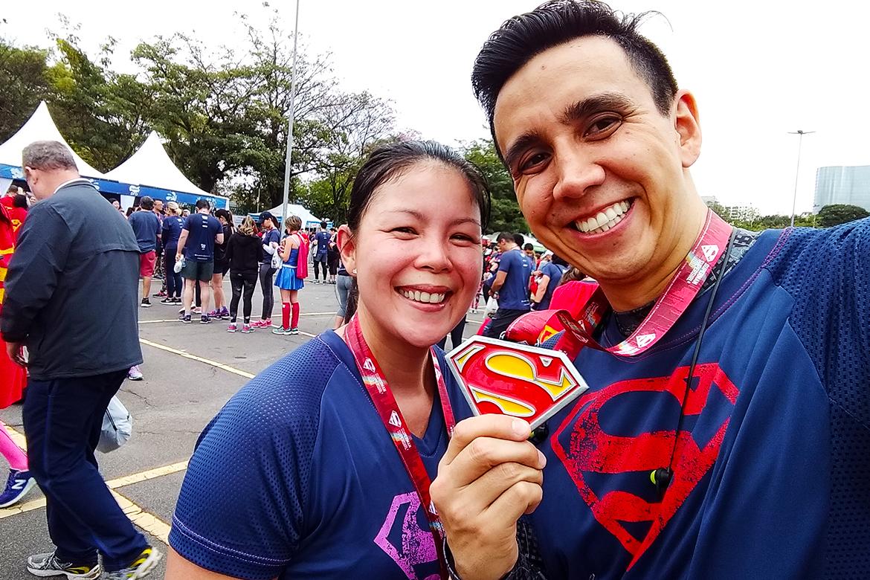 corrida superman medalha